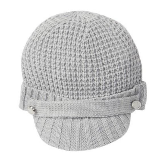 8efee8e0958 Michael Kors Thermal Peak Knit Visor gray Beanie